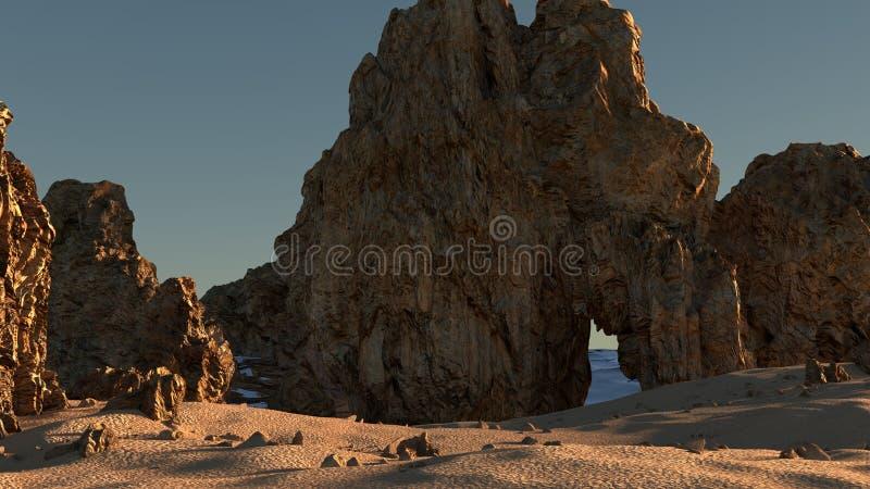 Uma praia rochosa imagem de stock