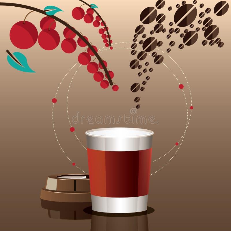 Uma receita da xícara de café conceptual ilustração royalty free