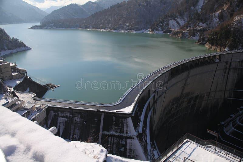 Uma represa de Kurobe fotos de stock
