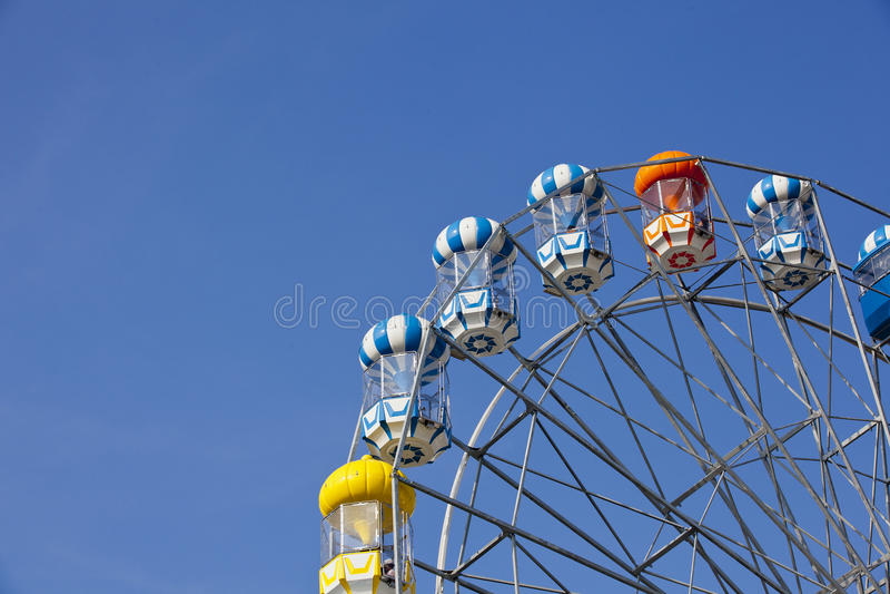 Uma roda de ferris fotografia de stock royalty free