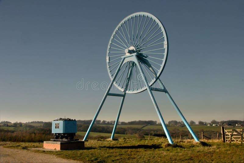 Uma roda do poço fotografia de stock