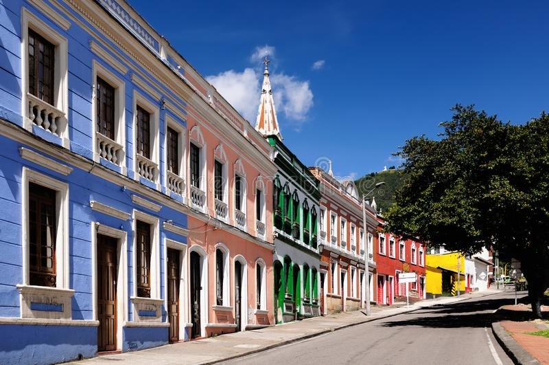 Uma rua em Bogotá, Colômbia imagem de stock royalty free