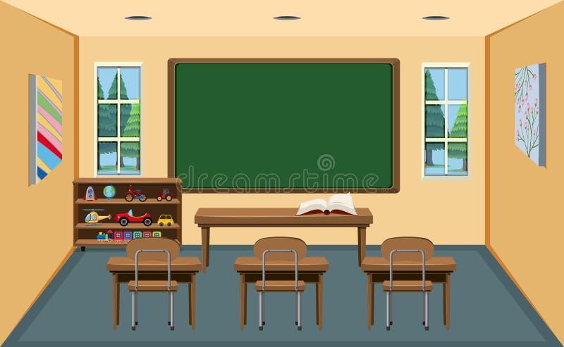 Uma sala de aula vazia interior ilustração royalty free