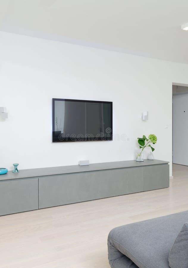 Uma sala de visitas moderna imagens de stock royalty free