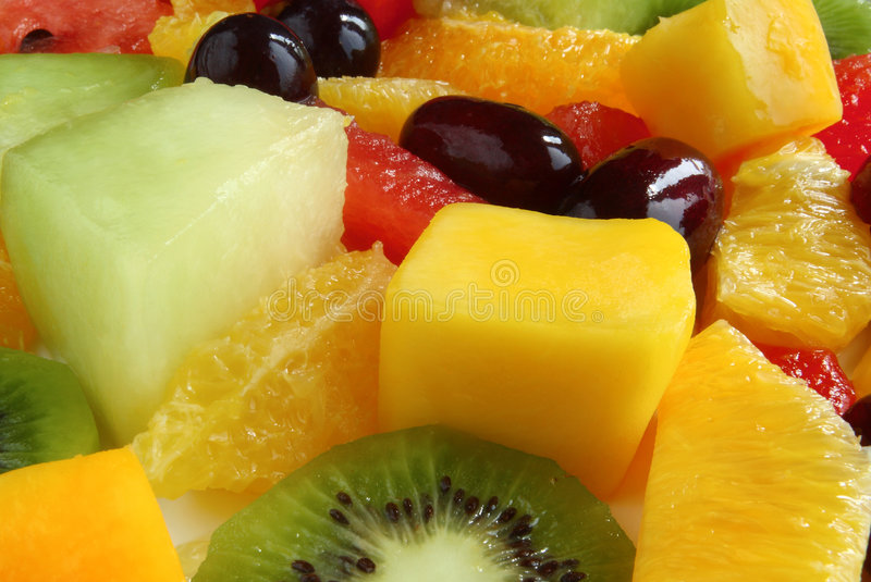 Uma salada de fruta. fotos de stock royalty free