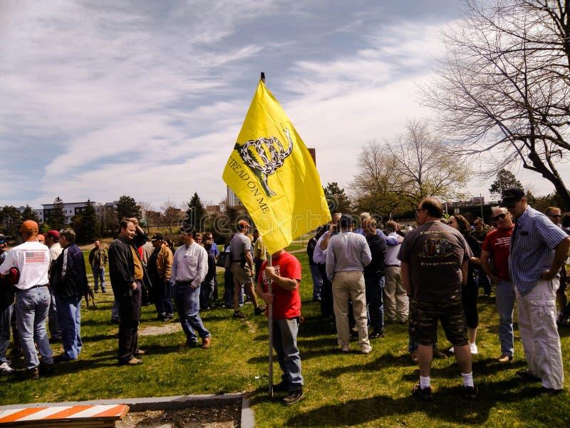 Uma segunda demonstração adiantada da alteração em Portland, Maine fotos de stock