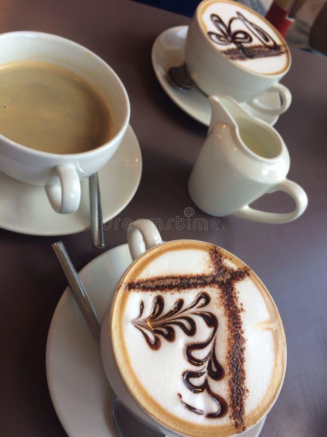 Uma seleção dos cafés imagem de stock