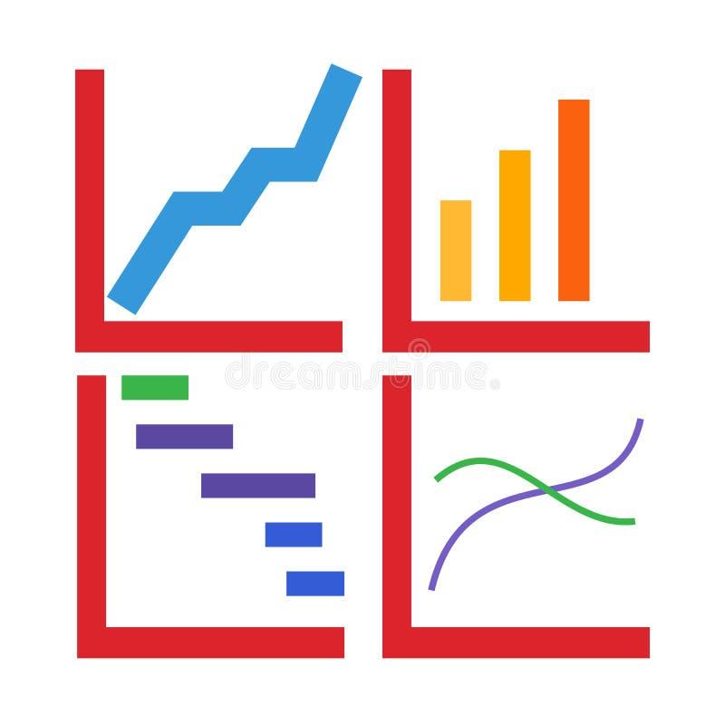 Uma seleção dos gráficos que mostram um aumento Infographics ilustração stock