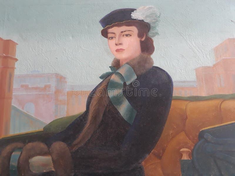 Uma senhora bonita imagens de stock royalty free