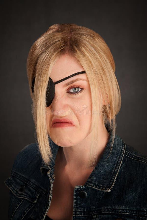 Uma senhora Eyed fotografia de stock