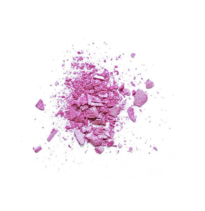 Uma sombra para os olhos cor-de-rosa quebrada compõe fotos de stock royalty free