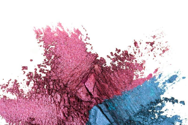 Uma sombra quebrada do roxo e de olhos azuis compõe a paleta isolada em um fundo branco imagens de stock royalty free