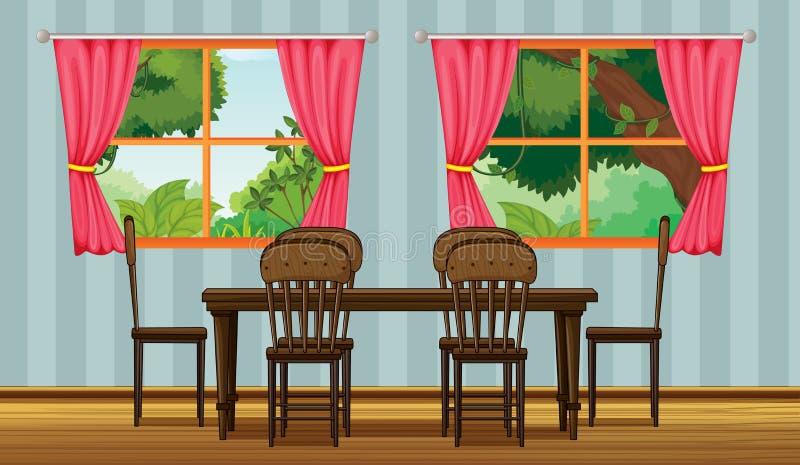 Uma tabela dinning ilustração stock