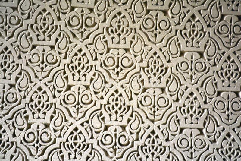 Uma telha branca do moroccon de casablanca imagem de stock