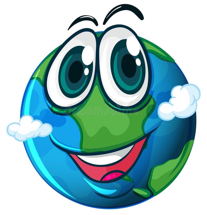 Uma terra de sorriso do planeta ilustração royalty free
