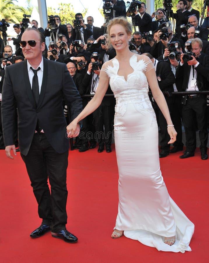 Uma Thurman et Quentin Tarantino image libre de droits