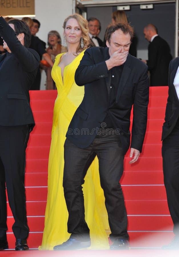 Uma Thurman et Quentin Tarantino photos stock