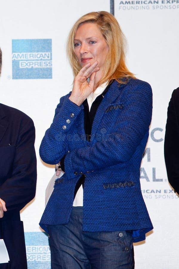 Uma Thurman van de actrice stock fotografie