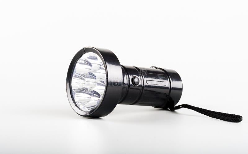 Uma tocha da lanterna elétrica do diodo emissor de luz fotografia de stock royalty free