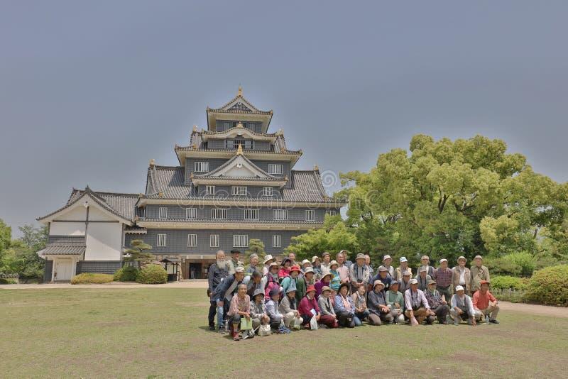 uma torre do castelo no castelo japão de Okayama fotografia de stock royalty free