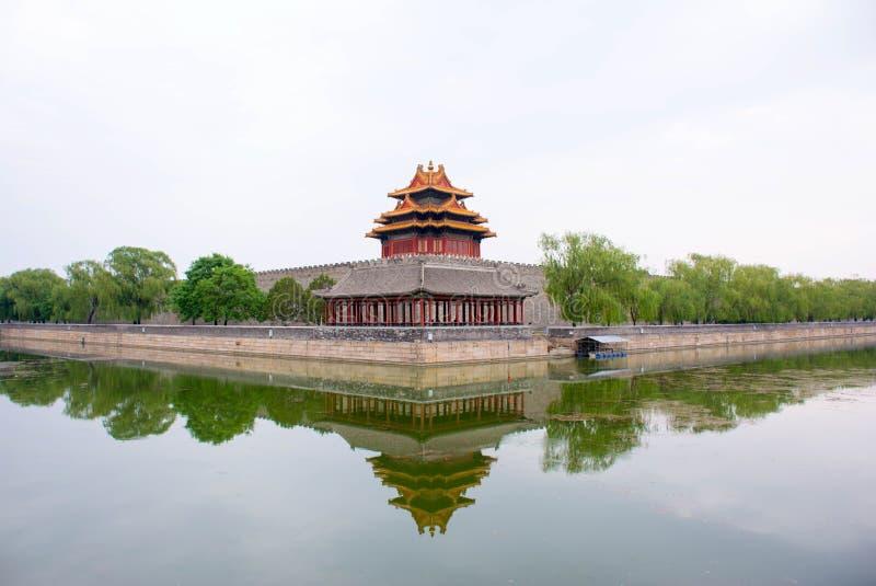 Uma torreta de China a Cidade Proibida imagem de stock royalty free