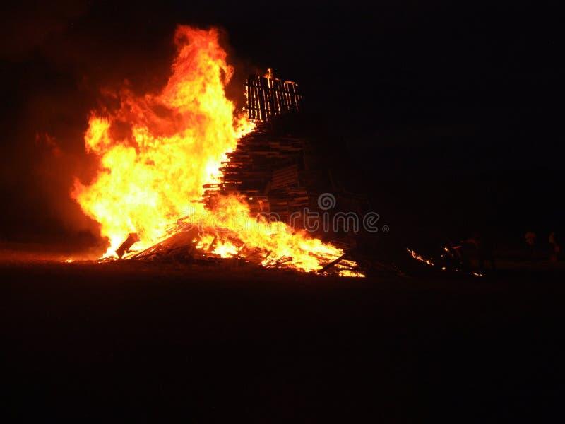 Uma tradição da fogueira em Texas ocidental fotos de stock