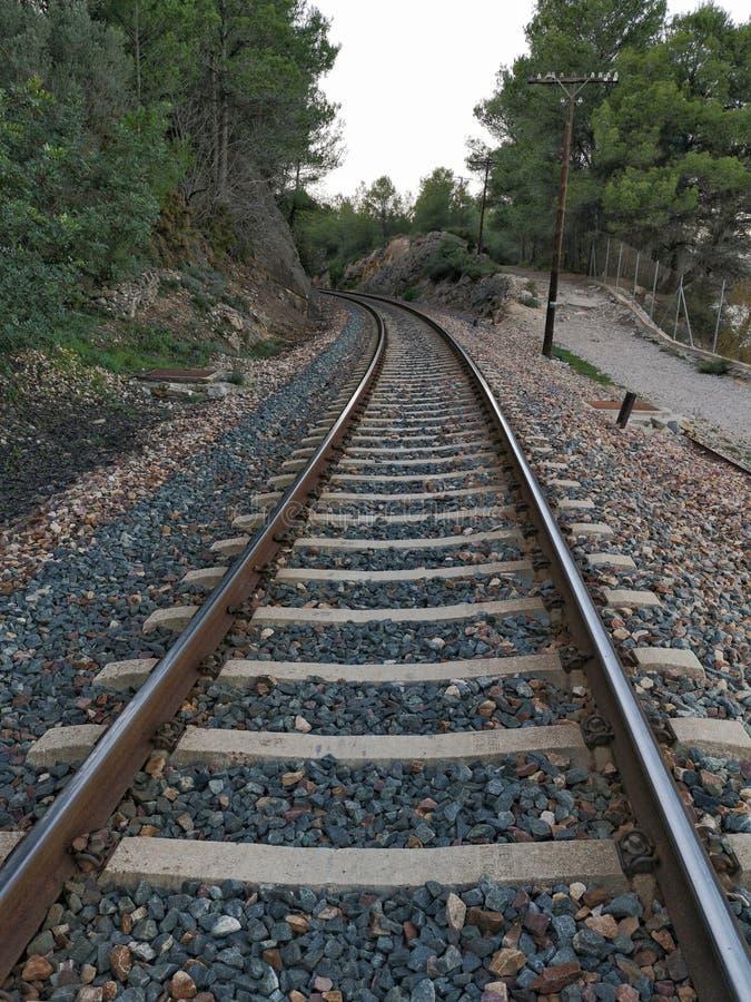 Uma trilha do trem fotos de stock royalty free