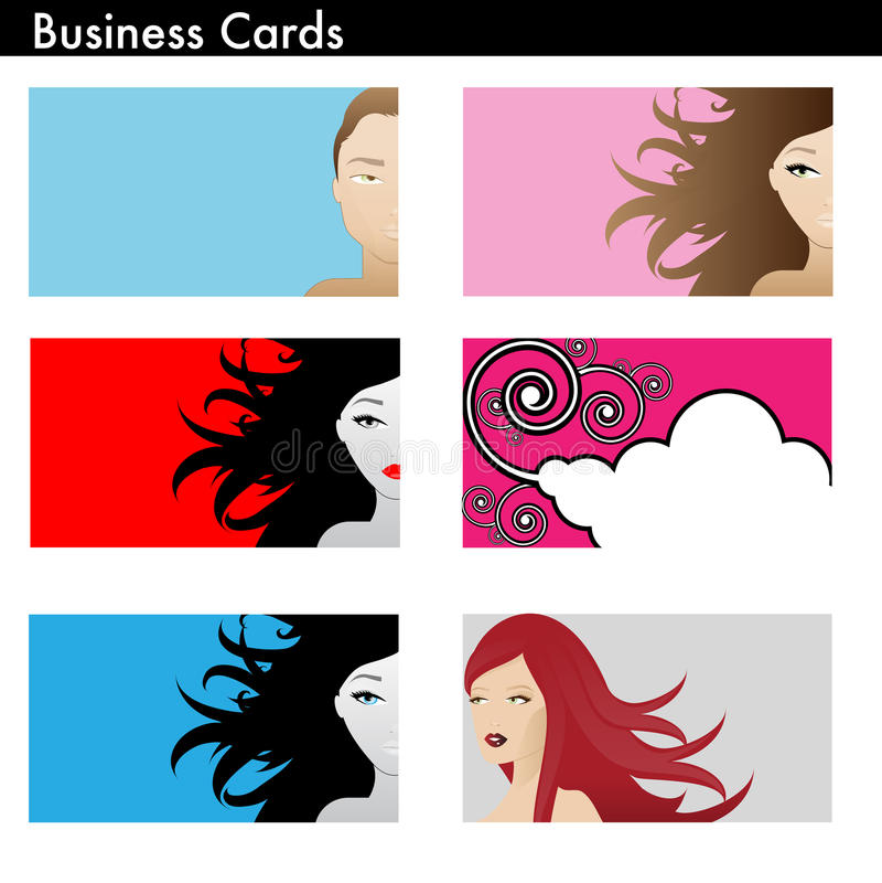 Uma variação dos cartões ilustração do vetor