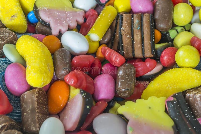Uma variedade de doces imagens de stock