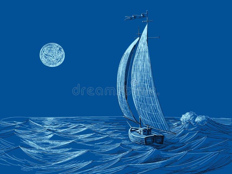 Uma vela da noite ilustração do vetor