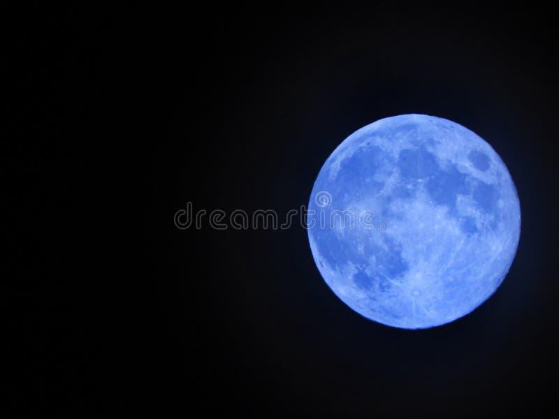 Uma vez em uma lua azul imagens de stock