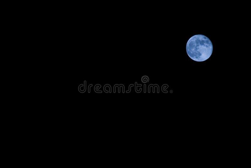 Uma Vez Em Uma Lua Azul Fotos de Stock Royalty Free
