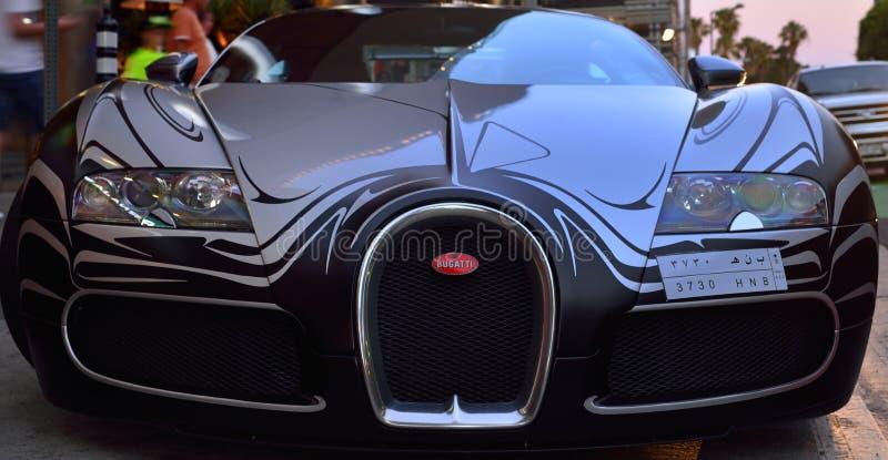 Uma vez um carro rápido fotografia de stock royalty free