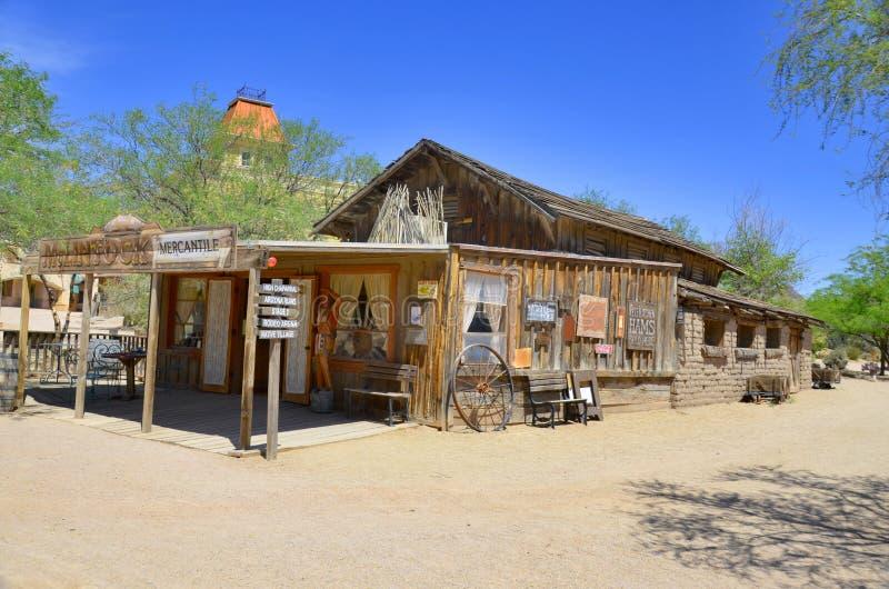 Uma vila do vintage de Tucson velho imagem de stock