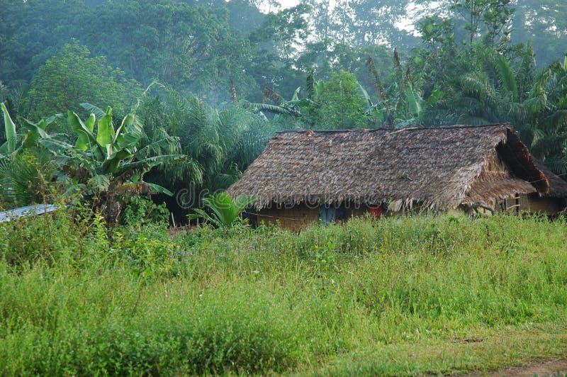 Uma vila em Libéria imagens de stock