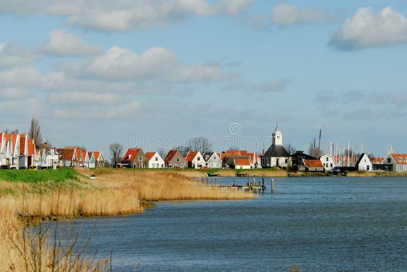 Uma vila holandesa pequena foto de stock