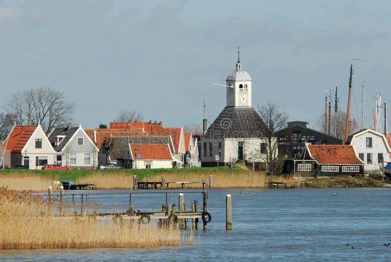 Uma vila holandesa pequena imagens de stock