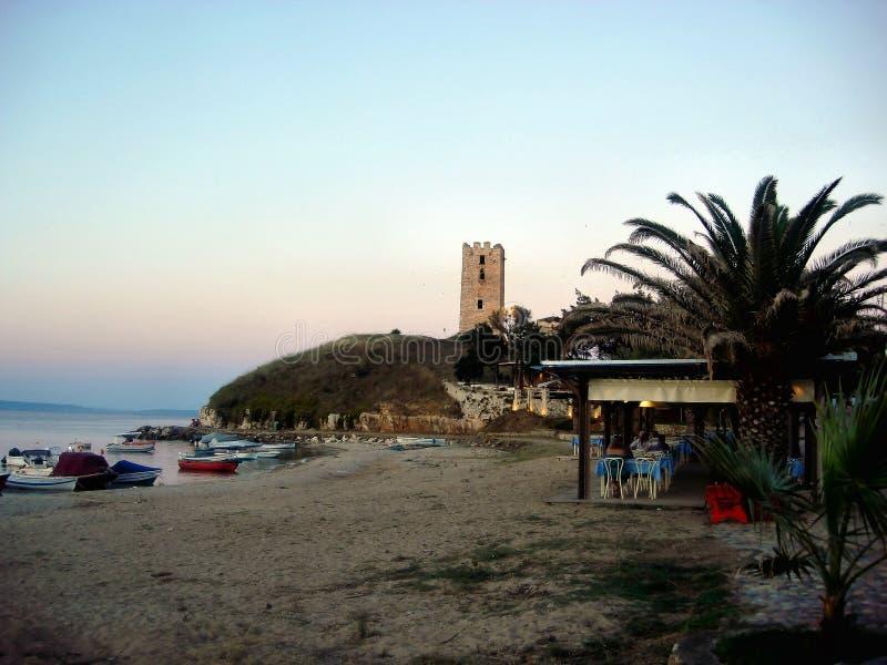 Uma vila pequena em Grécia imagem de stock