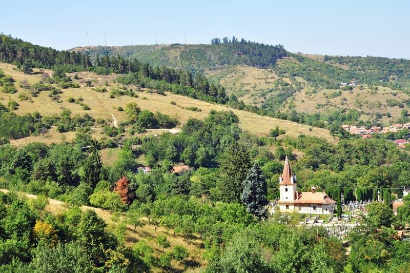 Uma vila transylvanian foto de stock