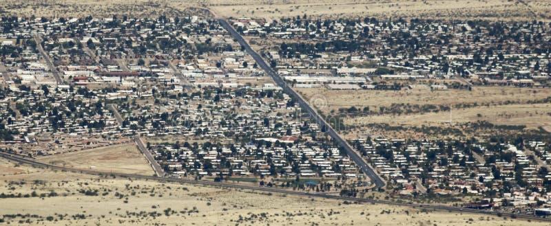 Uma vista aérea da serra vista, o Arizona, sétima área da rua imagens de stock