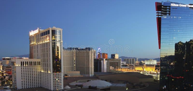 Uma vista aérea de Las Vegas que olha norte foto de stock