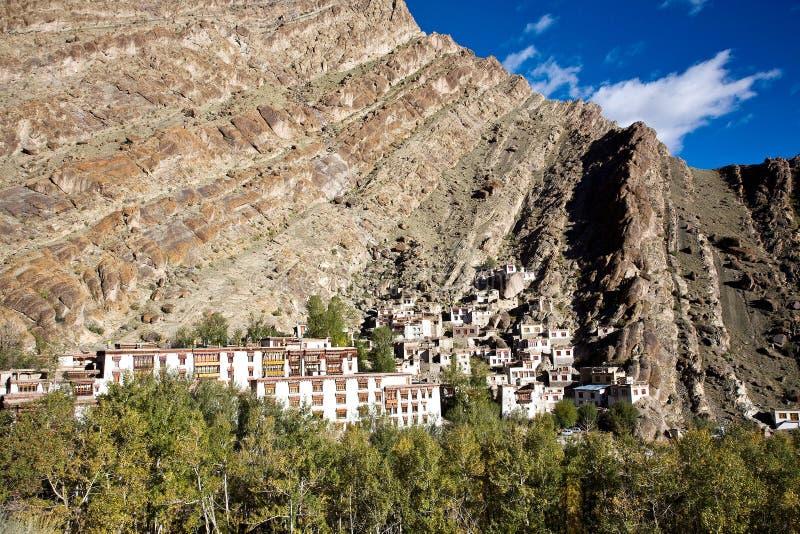 Uma vista aérea do monastério de Hemis, Leh-Ladakh, Jammu e Caxemira, Índia fotos de stock royalty free