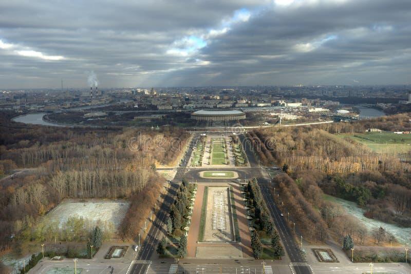 Uma vista bird's-eye de Moscovo foto de stock royalty free