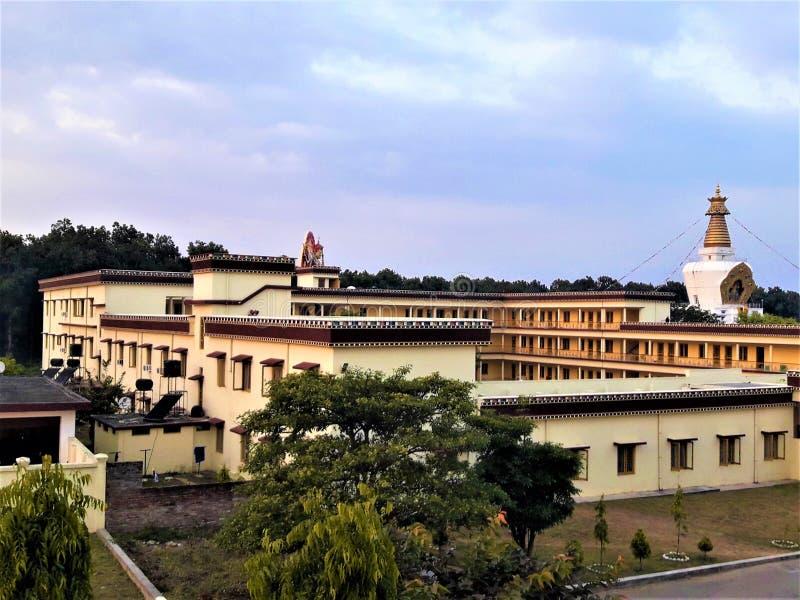 Uma vista bonita do monastério budista imagem de stock