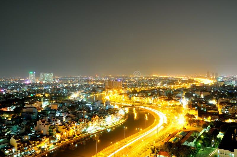 Uma vista bonita na cidade de Ho Chi Minh fotografia de stock