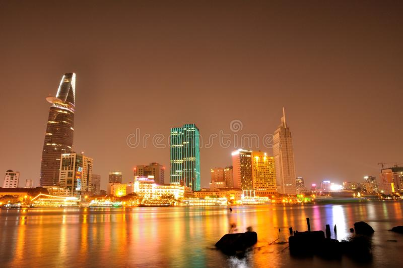 Uma vista bonita na cidade de Ho Chi Minh imagens de stock