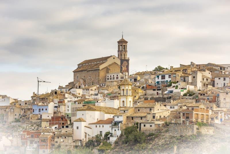 Uma vista da cidade de Cehegin imagens de stock royalty free