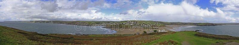 Uma vista da ilha do Burgh, Devon foto de stock