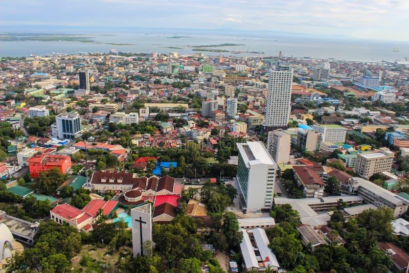 Uma vista da parte superior da cidade de Cebu, Filipinas foto de stock