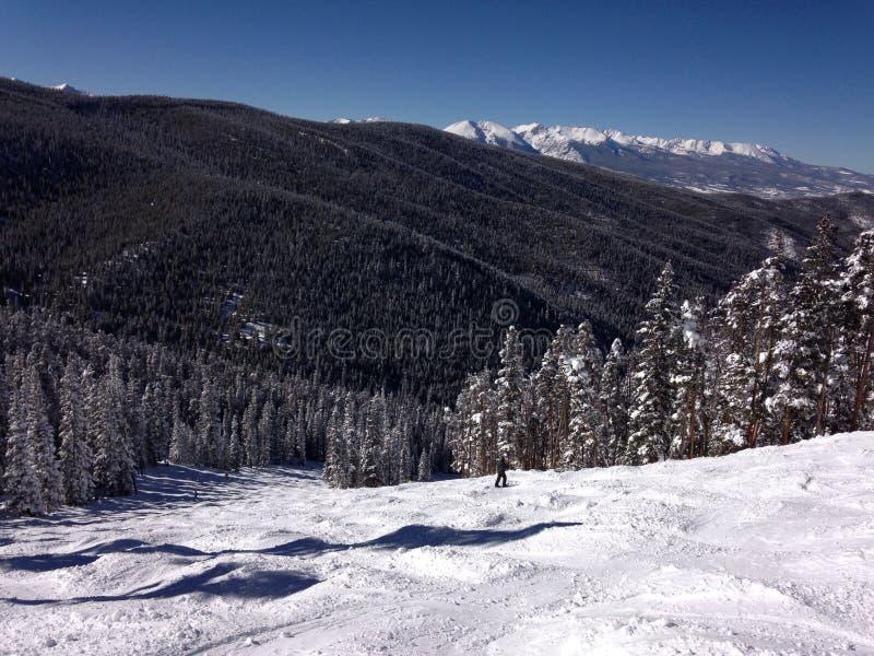 Uma vista da parte superior de uma montanha em Colorado imagens de stock royalty free